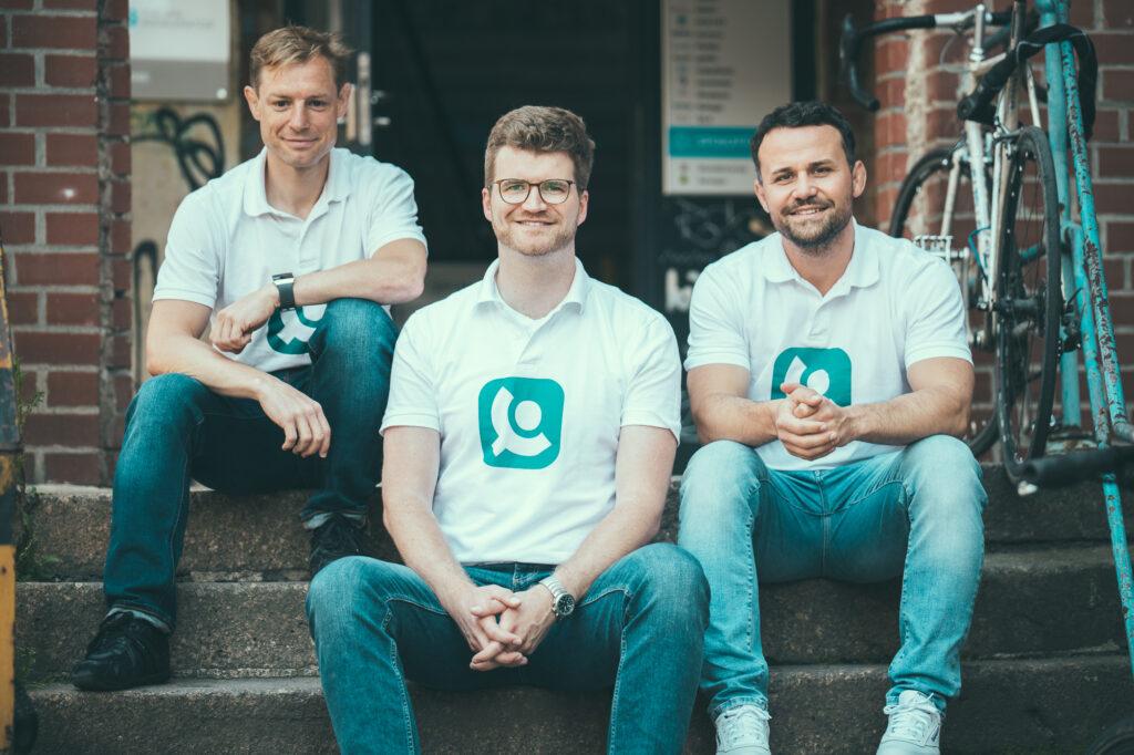Die Gründer Benedict Rehbein, Marcus Rehwald, Alexander Georgi